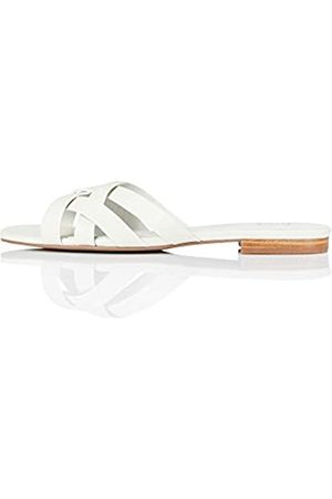 FIND Marca Amazon - Sandalias abiertas para mujer Lattice Strap Mule