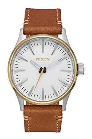 NIXON Hombre Relojes - Reloj Analógico para Hombre de Cuarzo con Correa en Cuero A3772548