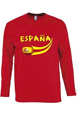 Supportershop – Camiseta para Hombre L/S Fútbol España, T-Shirt Homme L/S Rouge Espagne