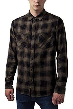 Urban classics Checked Flanell Shirt 3 Camisa Tamaño del Collar: 39 cm (Talla del Fabricante: Medium) para Hombre