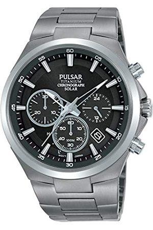 Seiko Pulsar Reloj Analógico para Hombre de Cuarzo con Correa en Acero Inoxidable PZ5097X1