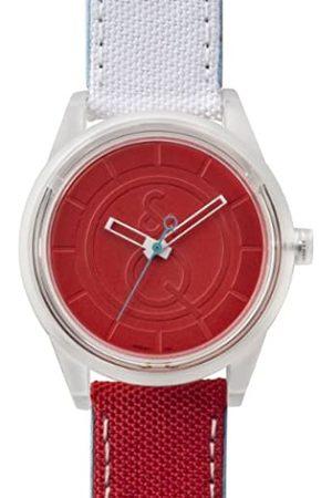 Q&Q SmileSolar - Reloj de Cuarzo Unisex, con Correa de Tela