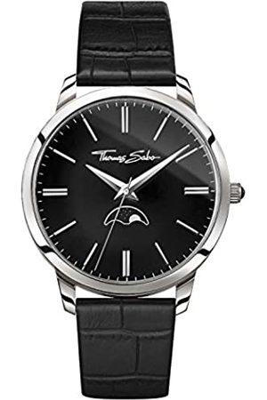 Thomas Sabo Hombre-Reloj para señor Rebel Spirit Moonphase Cuero Análogo Cuarzo WA0325-218-203-42 mm