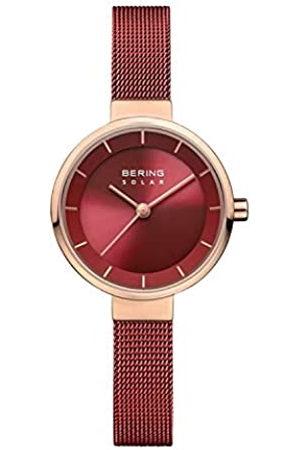 Bering Reloj Analógico para Mujer de Energía Solar con Correa en Acero Inoxidable 14627-363