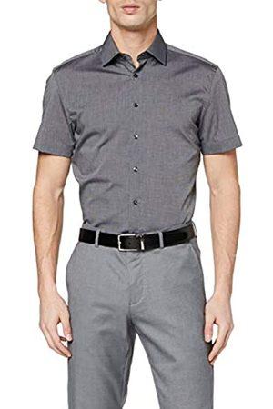Seidensticker Herren Business Slim Fit – Bügelfreies, Schmales Hemd Mit Kent-Kragen – Kurzarm – 100% Baumwolle Camisa