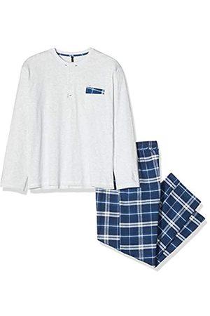 ALAN BROWN AH.Nord.PYK, Conjuntos de Pijama para Hombre, Bleu Écru Ch/Marine