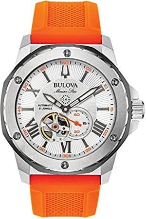 BULOVA Reloj Analógico para Hombre de automático con Correa en Silicona 98A226