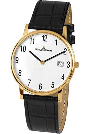 Jacques Lemans Vienna – Reloj de Pulsera analógico Unisex de Cuarzo Piel 1 – 1848d