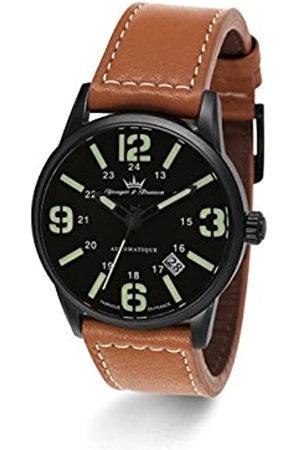 YONGER&BRESSON Yonger & Bresson YBH 8351-88 - Reloj de Pulsera Hombre, Piel