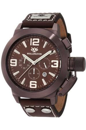 Daniel Wellington WN103-995 - Reloj cronógrafo de caballero de cuarzo con correa de piel - sumergible a 50 metros
