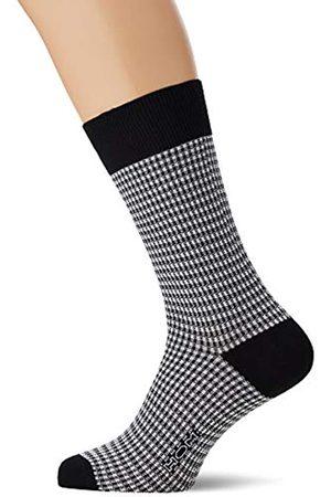 HOM Socks Calcetines, ((Jacquard Carreaux Vichy Noir Et Blanc Pk07)
