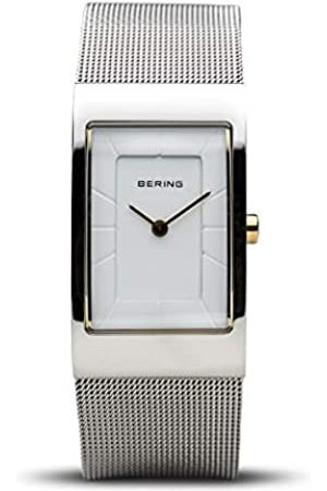 Bering Reloj Analógico para Mujer de Cuarzo con Correa en Acero Inoxidable 10222-010-S