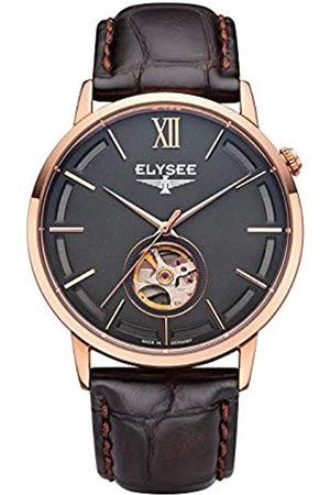 ELYSEE Reloj Analógico para Unisex Adultos de Automático con Correa en Cuero 77012B