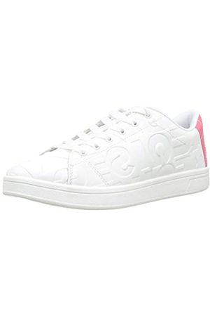Desigual Tenis Patch, Zapatillas para Mujer, (White 1000)