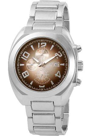Excellanc 284327000007 - Reloj analógico de caballero de cuarzo con correa de aleación plateada