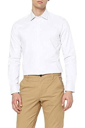 MERAKI Marca Amazon - Camisa de Vestir Estilo Óxford con Corte Entallado Hombre, XL