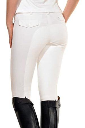 Pfiff Tina - Pantalones de equitación con culera para Mujer Blanco Talla:42