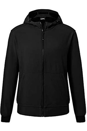 James & Nicholson Men's Hooded Softshell Jacket Chaqueta, Black