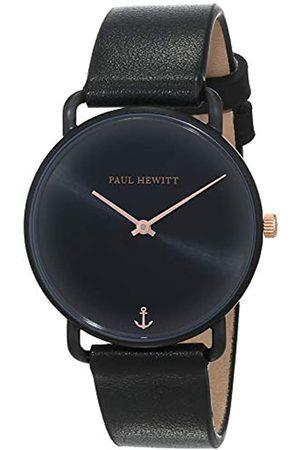 Paul Hewitt Reloj de muñeca para Mujer en Acero Inoxidable Miss Ocean Sunray - Reloj de Pulsera con Correa de Cuero