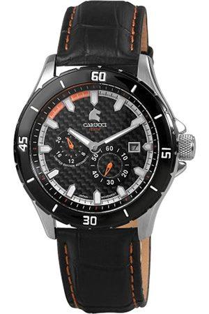Carucci Watches - Reloj analógico automático para Hombre con Correa de Piel