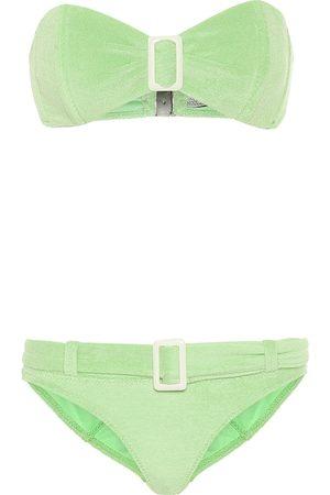 Lisa Marie Fernandez Bikini bandeau Buckle de felpa