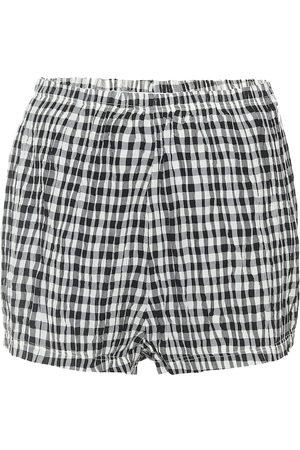Khaite Exclusivo en Mytheresa – shorts Hilary de tiro alto de cuadros vichy