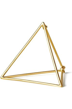 SHIHARA Mujer Pendientes - Pendiente estilo triángulo 30
