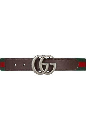Gucci Cinturón elástico con tribanda