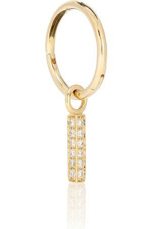 Maria Tash Argolla única de oro de 18 ct con diamantes