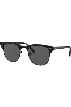Ray-Ban RB3016 Clubmaster 1305B1 TOP Wrinkled Black ON Black