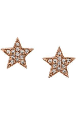 Dana Rebecca Designs Pendientes Julianne Himiko Star en oro rosa 14kt con diamantes