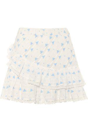 LOVESHACKFANCY Exclusivo en Mytheresa – minifalda Emma de algodón floral