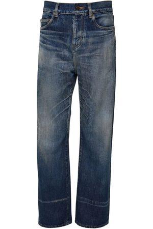 Saint Laurent | Hombre 20cm Straight Cotton Denim Jeans 33