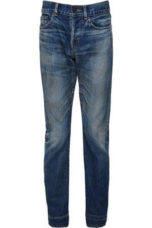 Saint Laurent | Hombre 17cm Logo Slim Fit Cotton Denim Jeans 33