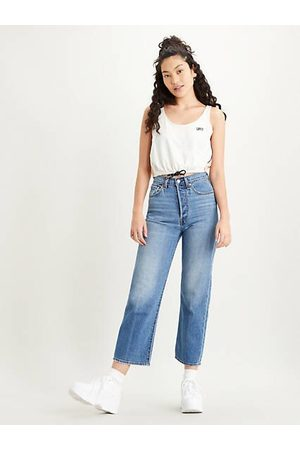 Levi's Mujer Cintura alta - Ribcage Straight Ankle Jeans Indigo / At The Ready