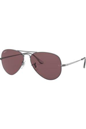 Ray-Ban Gafas de sol - Aviator Metal II RB3689 004/AF Shiny Gunmetal