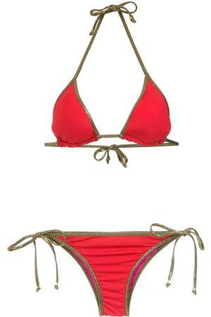 AMIR SLAMA Bikini con ribete en tono dorado