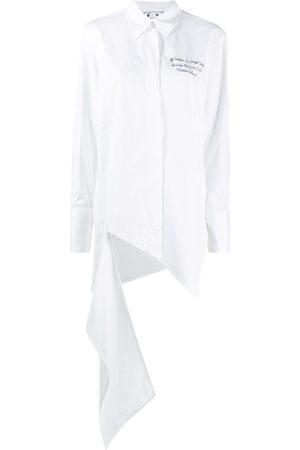 OFF-WHITE Camisa con dobladillo drapeado