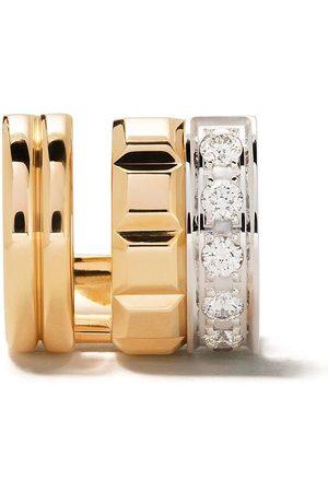 Boucheron Pendiente Quatre Radiant Edition en oro amarillo y blanco de 18kt con diamante