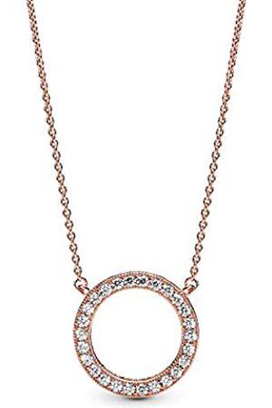 PANDORA Collar con colgante Mujer chapado en oro - 580515CZ-45