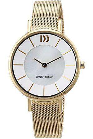 Danish Design Reloj Cuarzo para Mujer con Nácar Analogico Y Oro Chapado en Acero Inoxidable 3320218