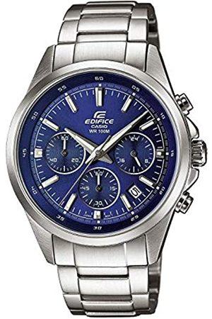 Casio EDIFICE Reloj en caja sólida, 10 BAR, Negro/Blanco, para Hombre, con Correa de Acero inoxidable