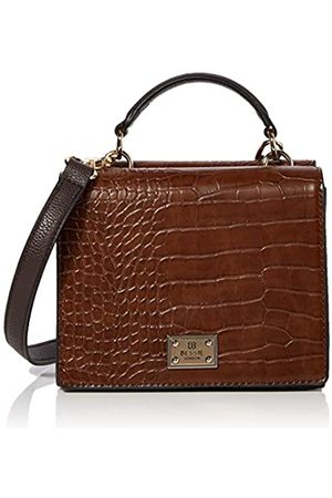 Bessie London Top Handle Croc Flap TopMujerBolso de manoMarrón (Coffee)11x14x19 Centimeters (W x H x L)