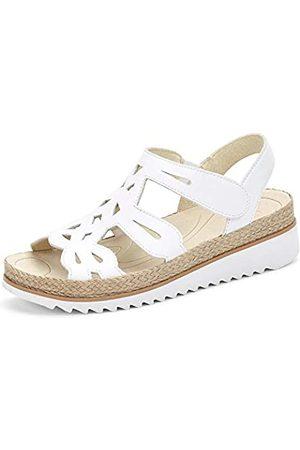 Gabor Shoes Gabor Jollys, Sandalia con Pulsera para Mujer, (Leinen 34)