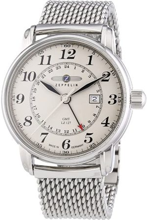 Zeppelin Watches-RelojanalógicodeCuarzoparaHombreconCorreadeAceroInoxidable