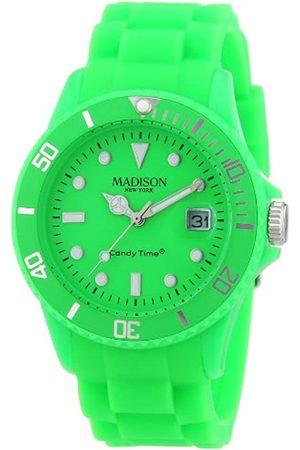 Madison Reloj Análogo clásico para Unisex de Cuarzo con Correa en Caucho U4503-49