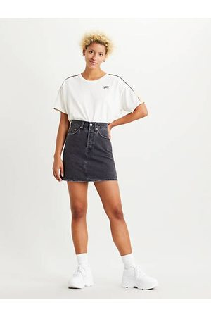 Levi's Mujer Minifaldas - High Waisted Deconstructed Skirt Black / Regular Programming