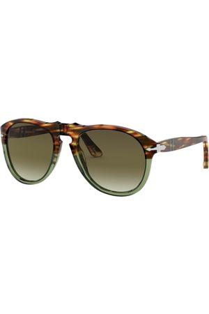 Persol PO0649 1122A6 Striped Brown/Transp Green