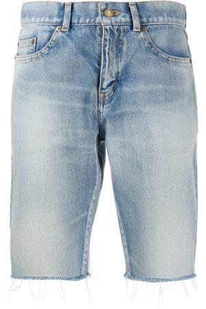 Saint Laurent Mujer Vaqueros - Pantalones vaqueros cortos deshilachados