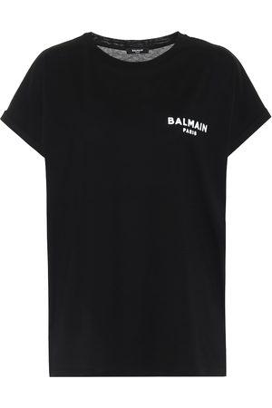 Balmain Camiseta de punto fino de algodón